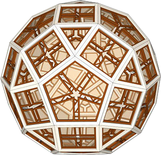 Rhombicosidodecahedron created in SketchUp